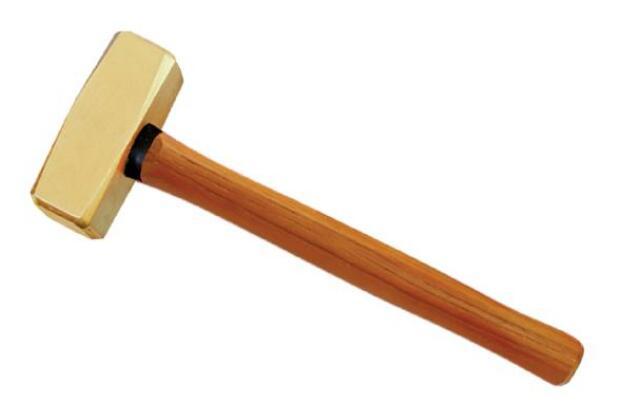 2104B 黄铜木柄德式八角锤