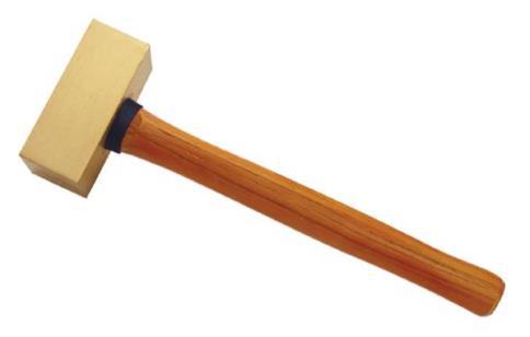 2106B 黄铜木柄方锤