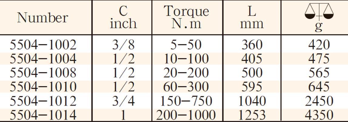 5504钛合金扭力扳手