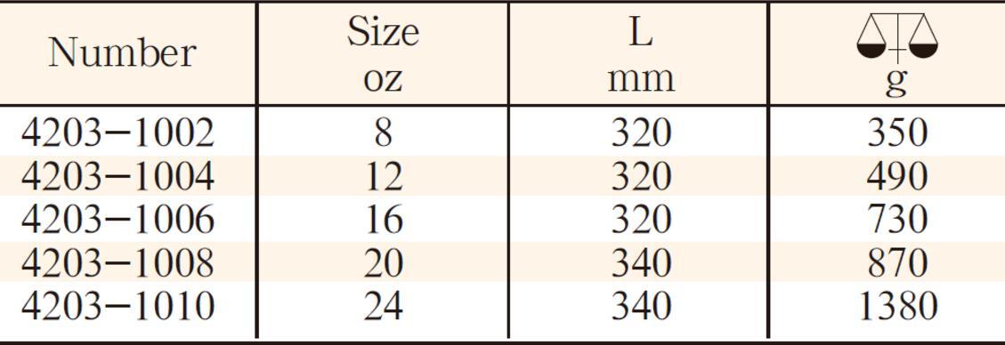 4203塑柄美式羊角锤