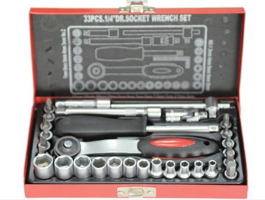 """4311 33件1/4""""套筒扳手组套"""