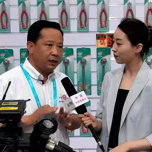 杨景华总裁在北京国际展览会接受中央电视台采访