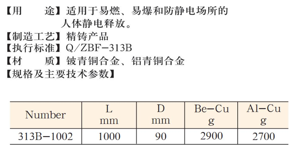 313B 防爆人体静电释放仪