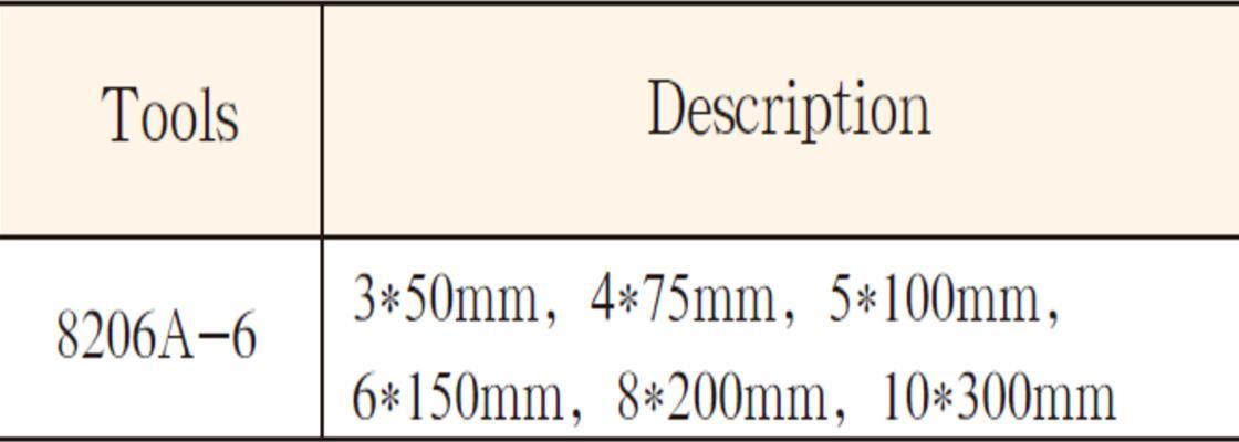 8206A不锈钢柄一字螺丝刀6件套